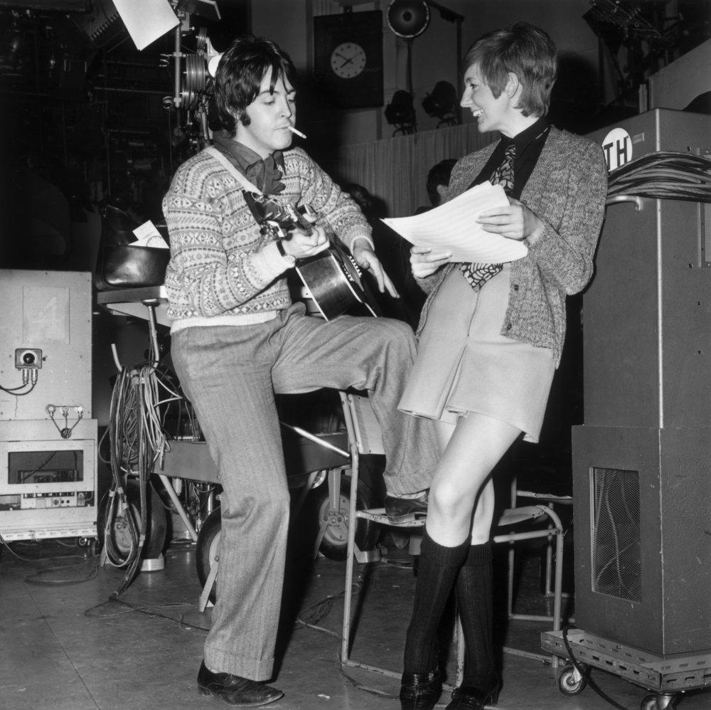 Paul McCartney with Cilla Black, 1967.