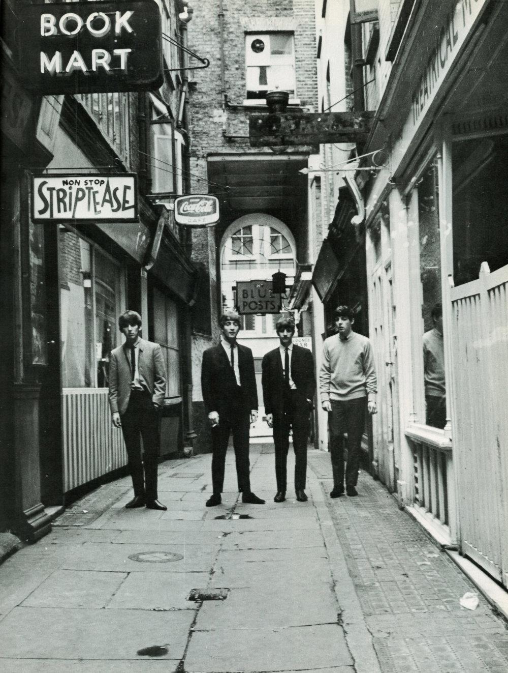 The Beatles in Soho, London, 1963