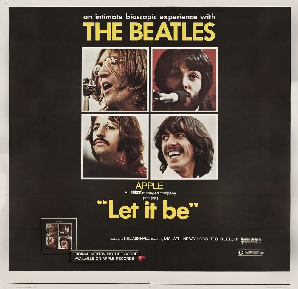 Film poster for the Let It Be documentary.