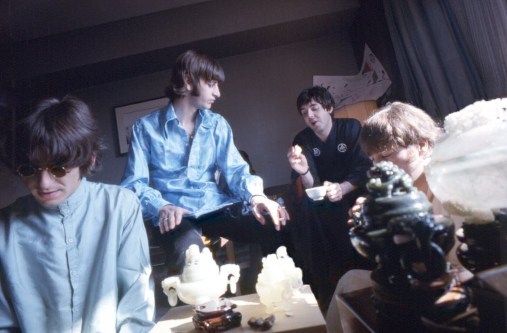 The Beatles in the Presidential Suite of the Tokyo Hilton, June 1966.