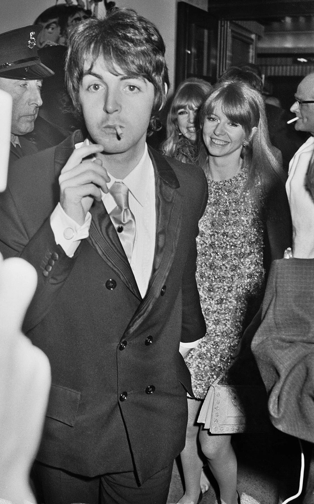 Paul McCartney and Jane Asher at the premiere of How I Won the War, October 18th 1967.
