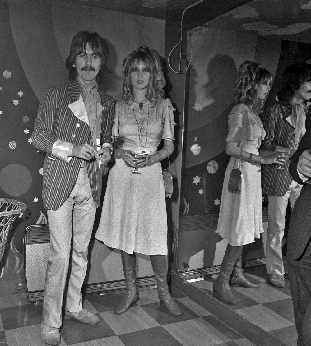 George Harrison and Pattie Boyd at the launch party for the Apple Boutique store, December 5th 1967.