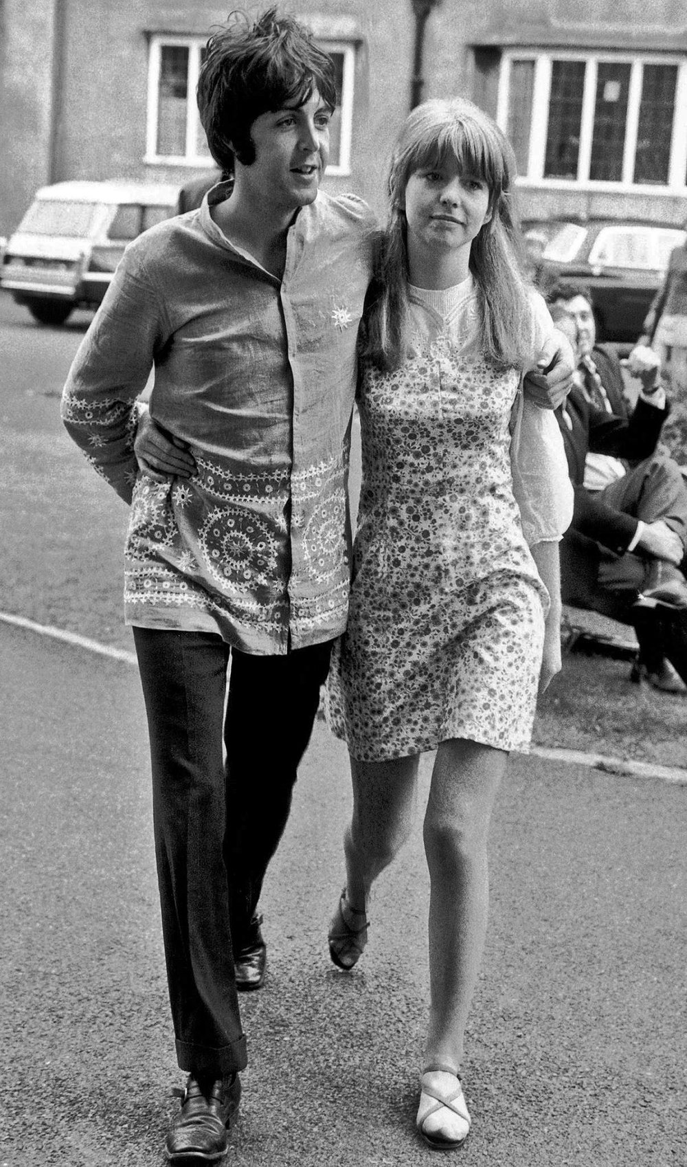 Paul McCartney and Jane Asher in Bangor, Wales, August 1967.