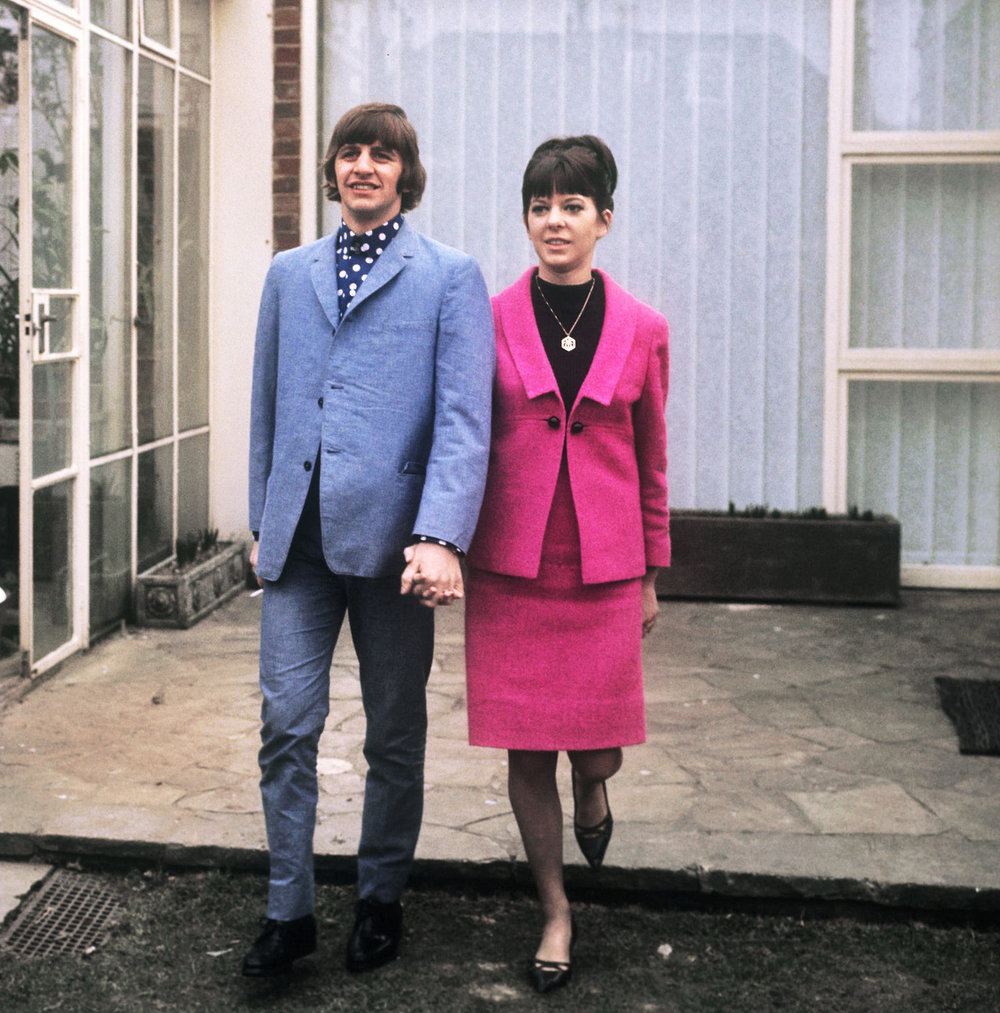 Ringo Starr with wife Maureen, February 1965.