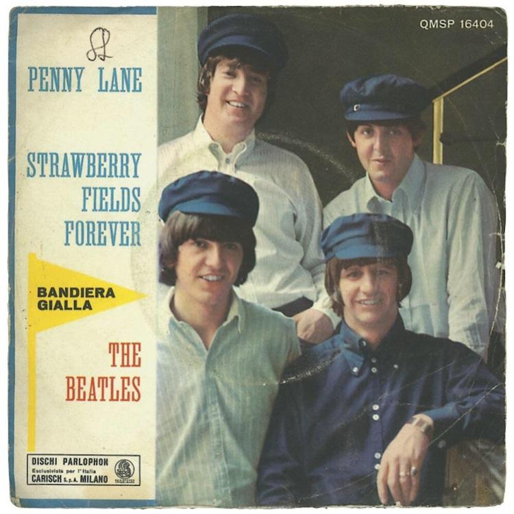 Penny Lane/Strawberry Fields Forever single, 1967.