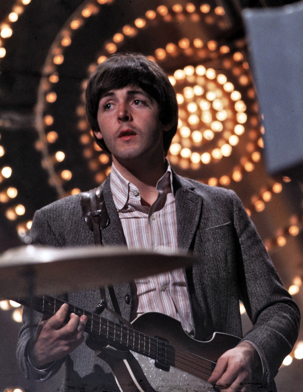 Paul McCartney rehearsing on Top of the Pops, June 16th, 1966.