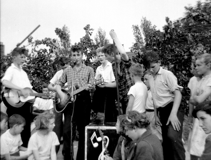 John Lennon with The Quarrymen, 1957.