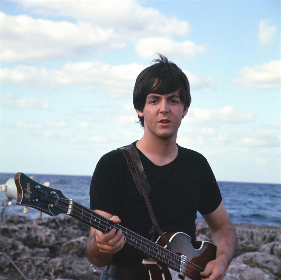 Paul McCartney filming Help! in the Bahamas, 1965.