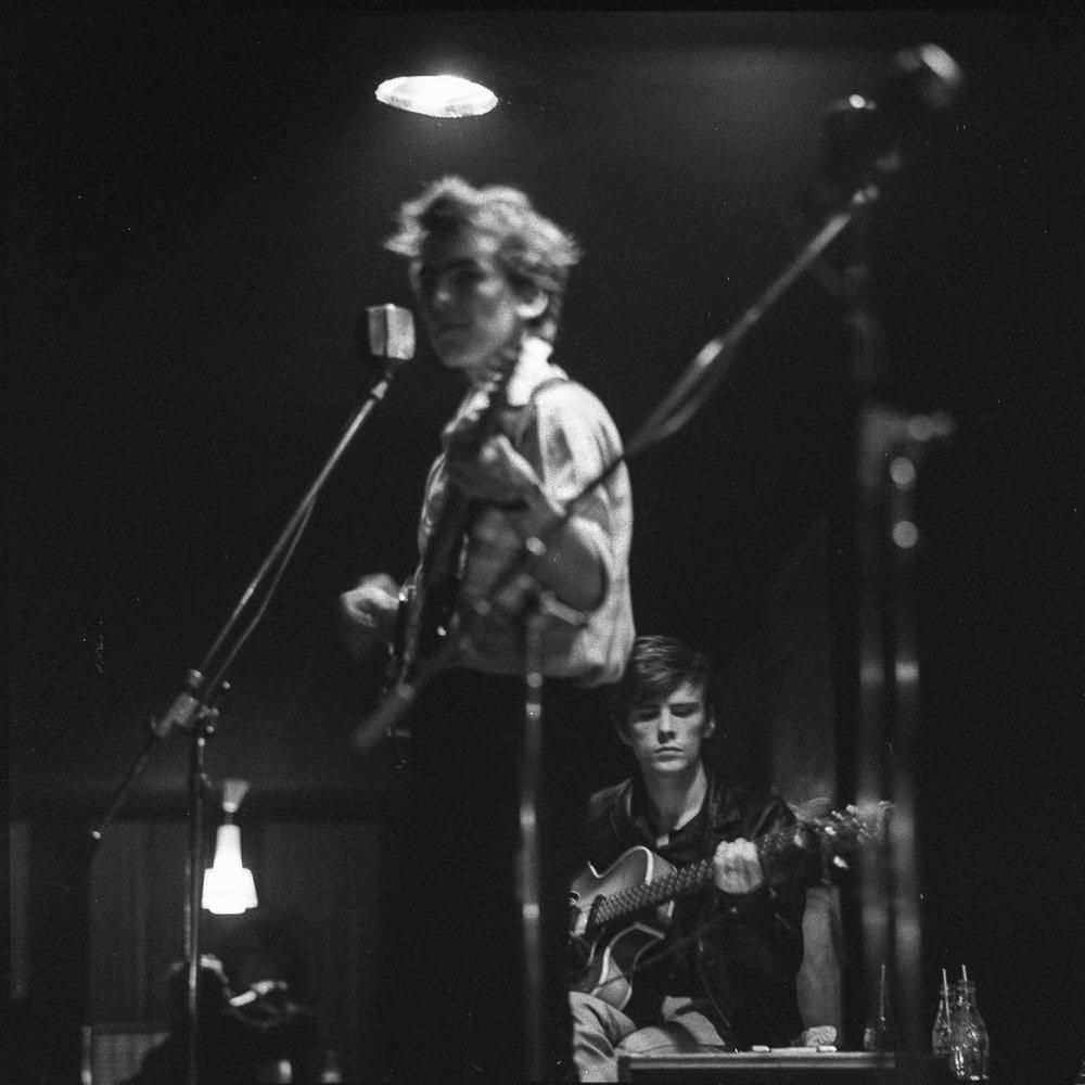 George Harrison and Stuart Sutcliffe in Hamburg.