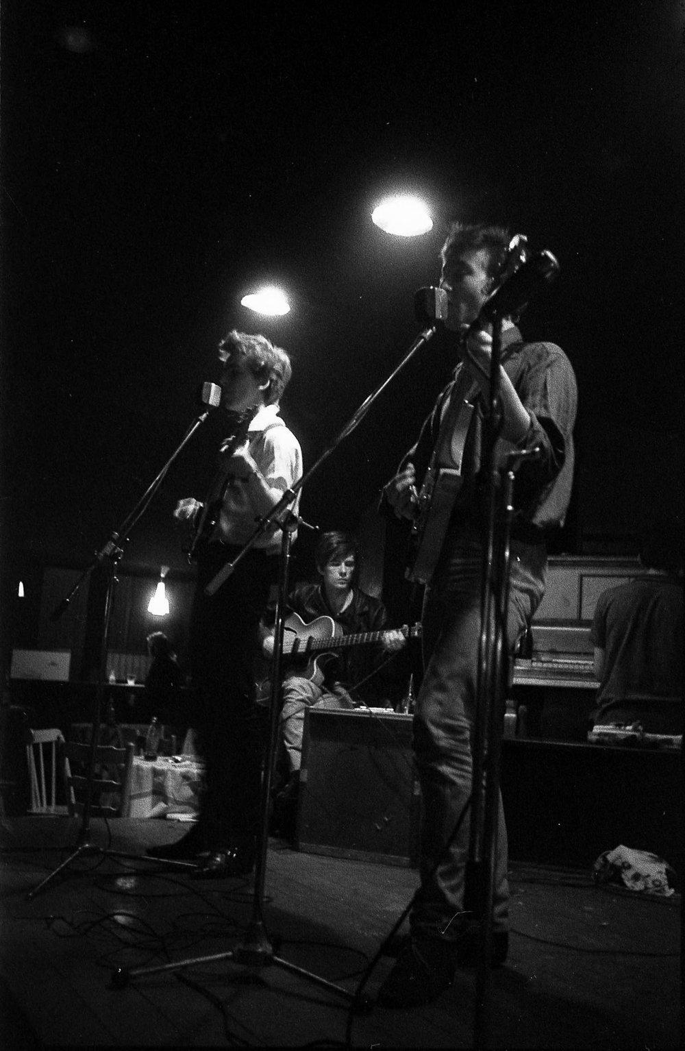 George Harrison John Lennon and Stuart Sutcliffe in Hamburg.