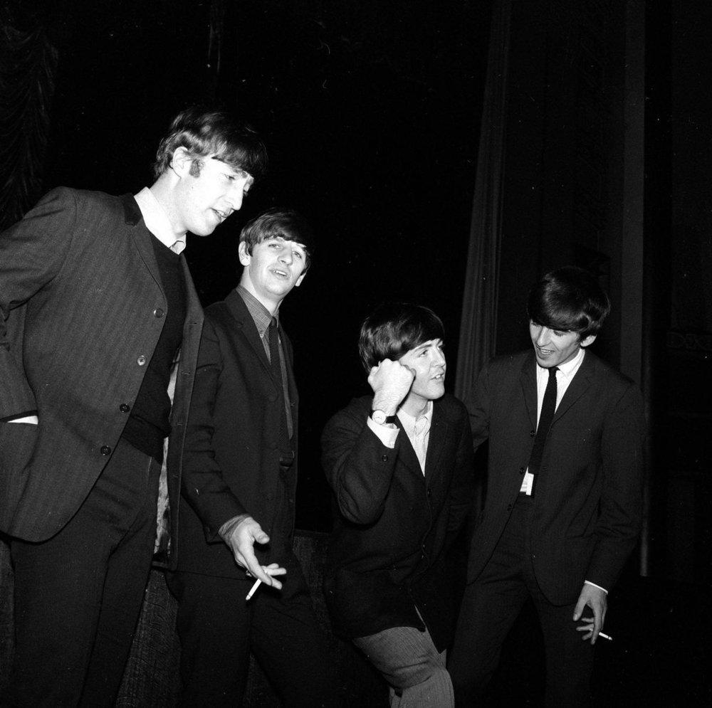 13th November 1963. The Beatles - Paul McCartney, John Lennon, Ringo Starr and George Harrison - in Plymouth.