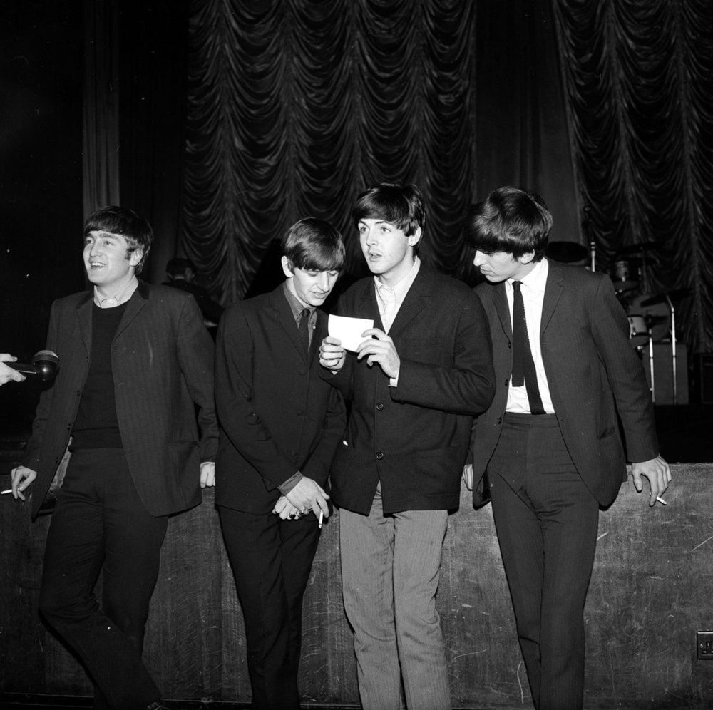 Plymouth 13th November 1963. John Lennon, Ringo Starr, Paul McCartney and George Harrison in Plymouth.