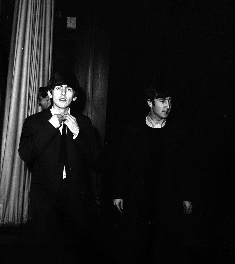 Plymouth 13th November 1963. George Harrison and John Lennon
