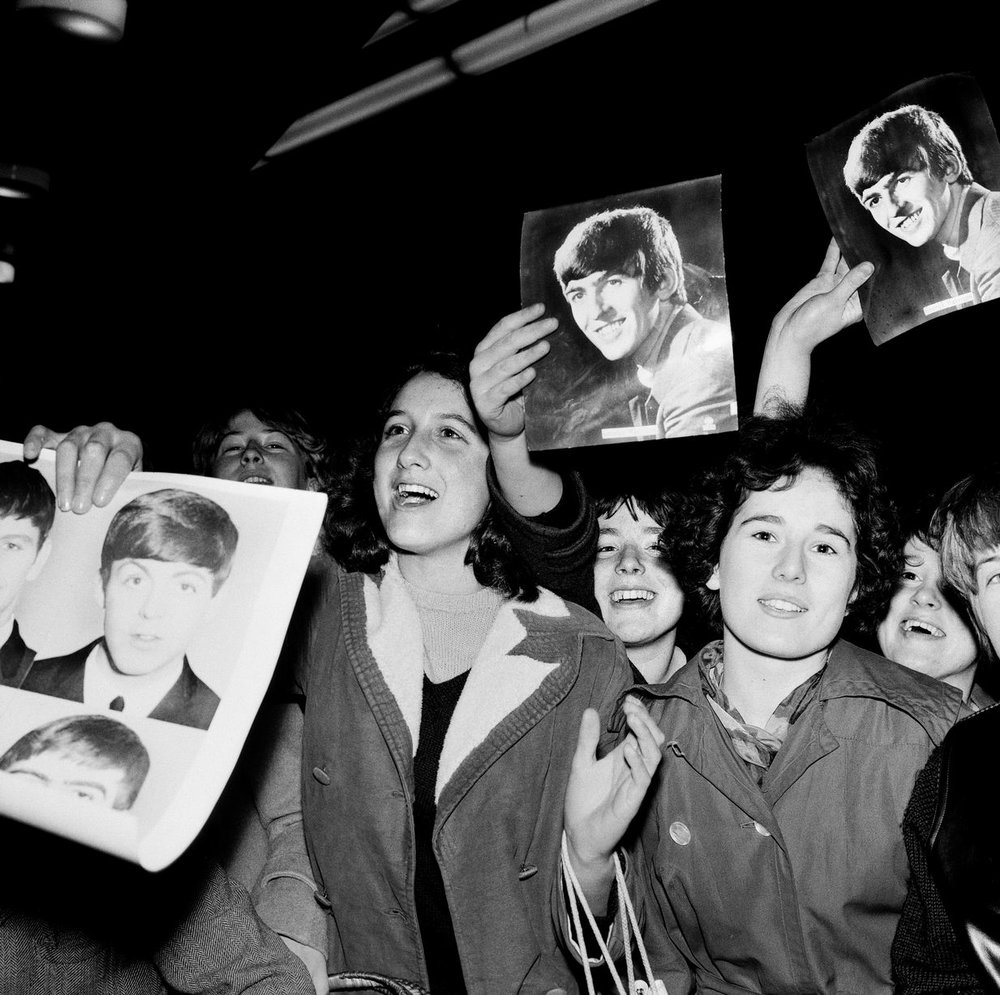 The Beatles Autumn Tour of Great Britain. Female fans pictured at the ABC in Plymouth. 13th November 1963.