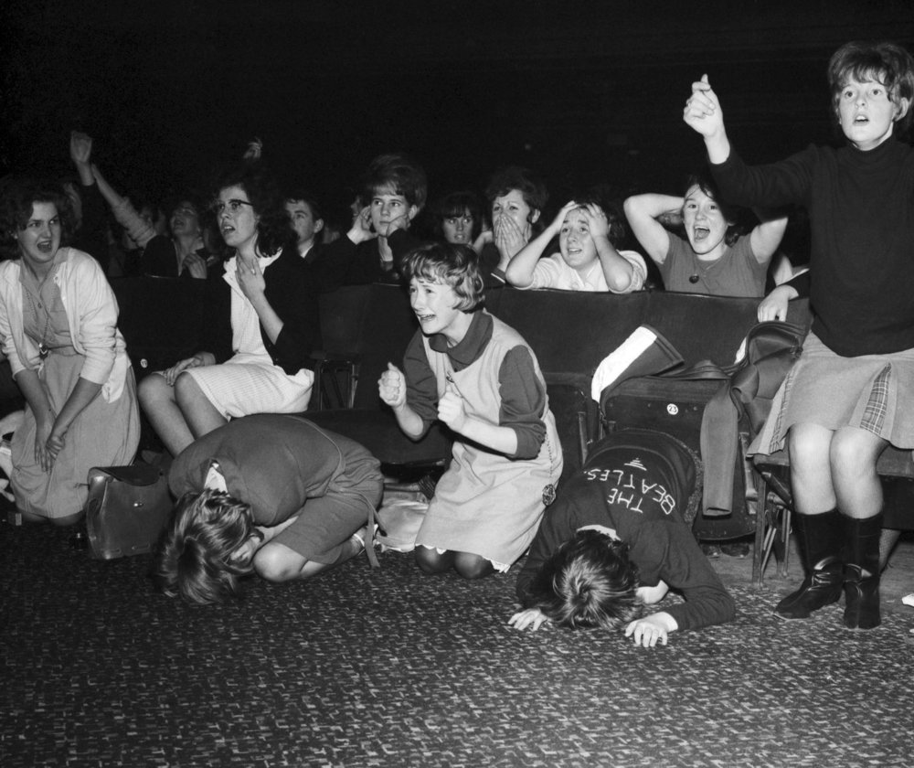 The Beatles Autumn Tour of Great Britain, Screaming Fans, at the ABC Plymouth. 13th November 1963.