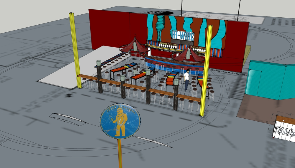 3d model of Hi Wire Brewing