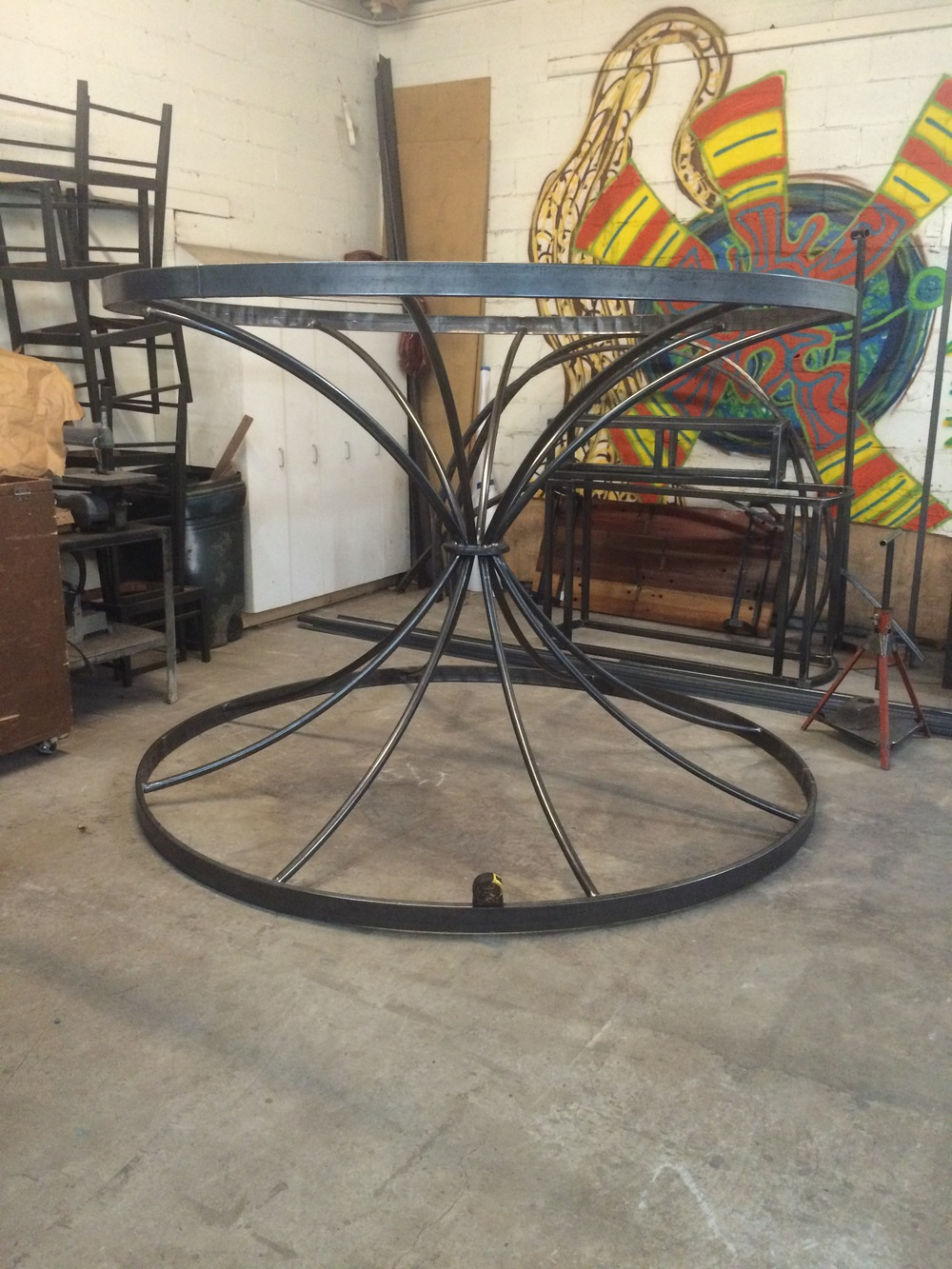 Chandelier steel rolling and fabrication