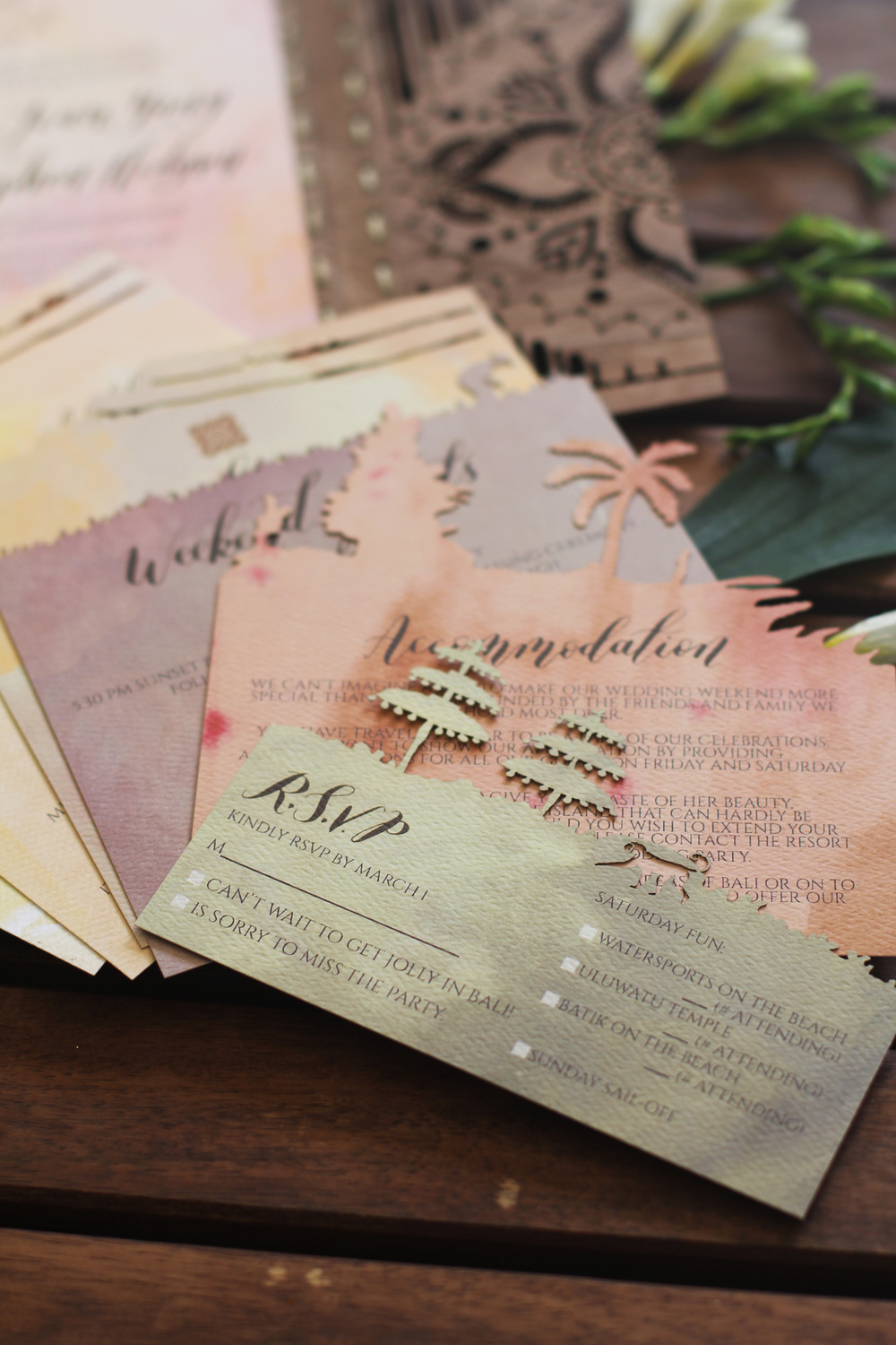 Layered Paper Invitation Suite