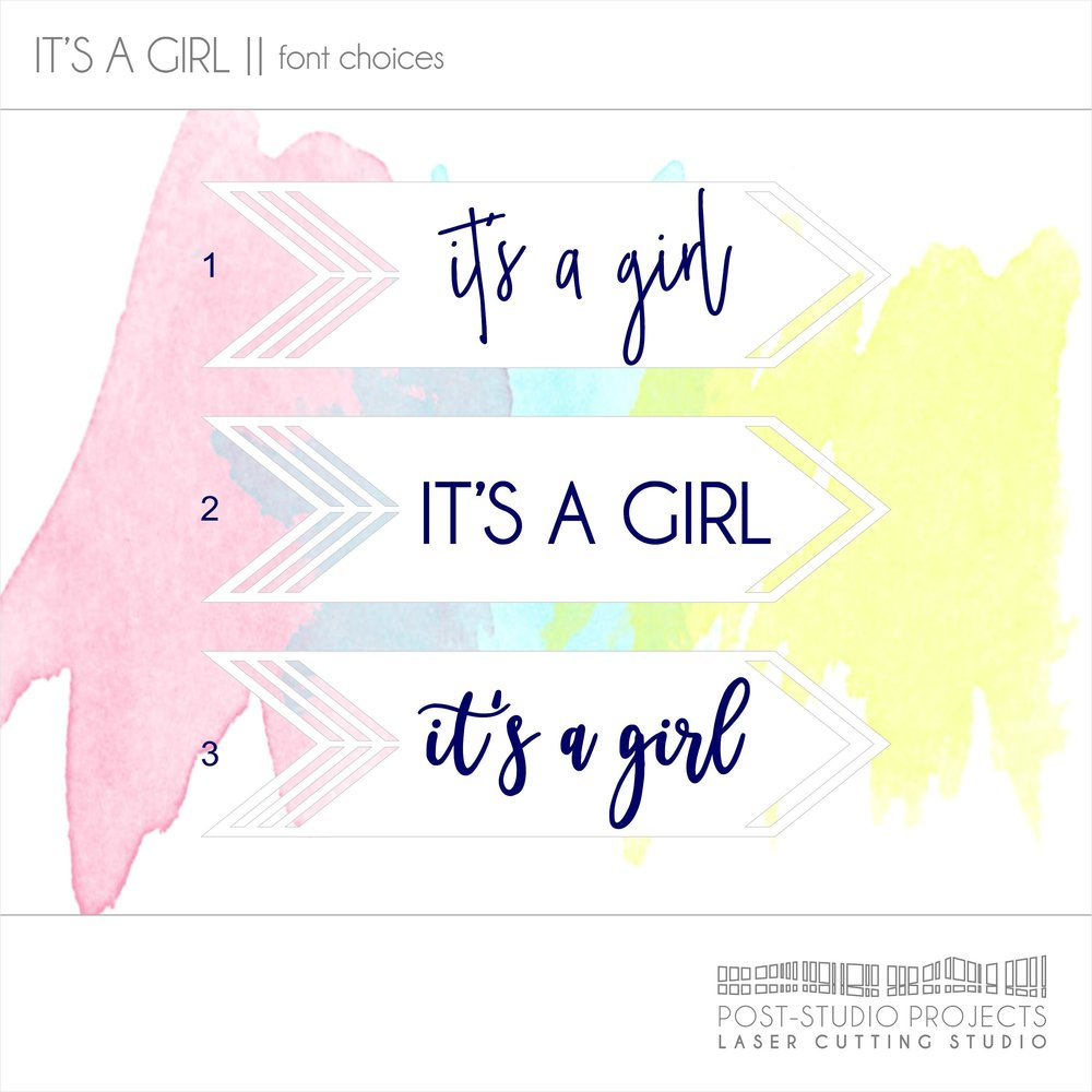 Its A Girl Sign Gender Reveal Baby Shower Sign Baby