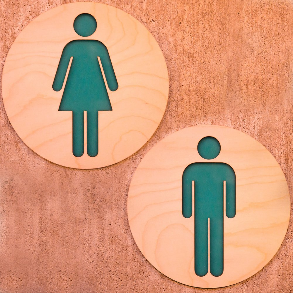 set of minimal restroom signs mens room ladies room restroom shop sign business signs wood business signs bathroom signs - Mens Bathroom Sign