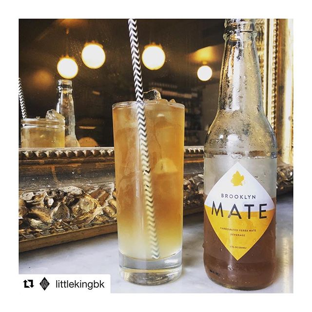 Drop by @littlekingbk for the newest delectable Brooklyn Mate concoction! . . . #brooklynmate #yerbamate #littleking #naturalenergy #cocktails #lkbk #bkm
