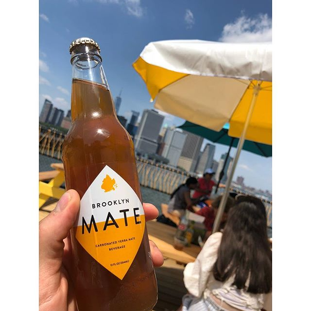 Tacos, Brookyn Mate, and view. What more do you need? #brooklynmate #tacovista #governorsisland