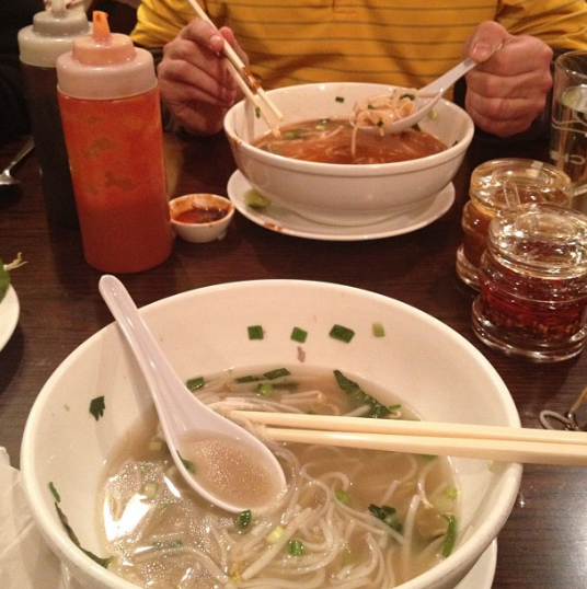 This is delicious, pho-sho. It's pho-nomenal. So good we had to take a pho-to. Ok, we'll stop now...