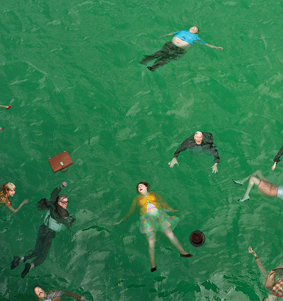 Alex Prager, 3:14pm, Pacific Ocean, 2012. Courtesy Alex Prager & Lehmann Maupin,  New York and Hong Kong.