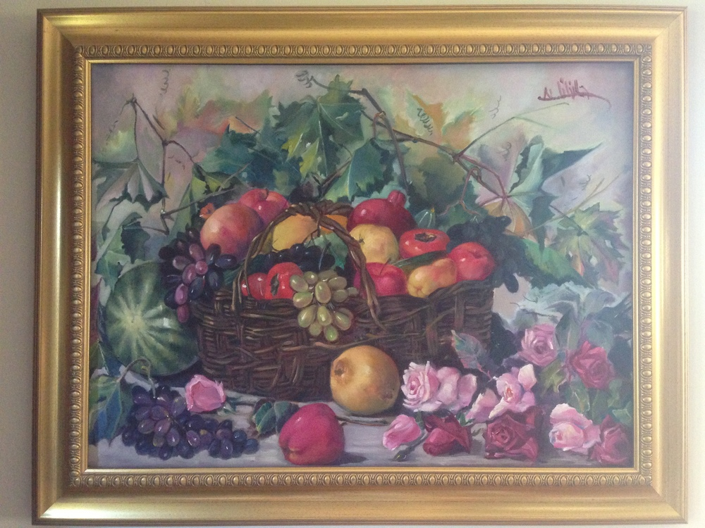 BOUNTIFUL TABLE, OIL ON CANVAS, 2003