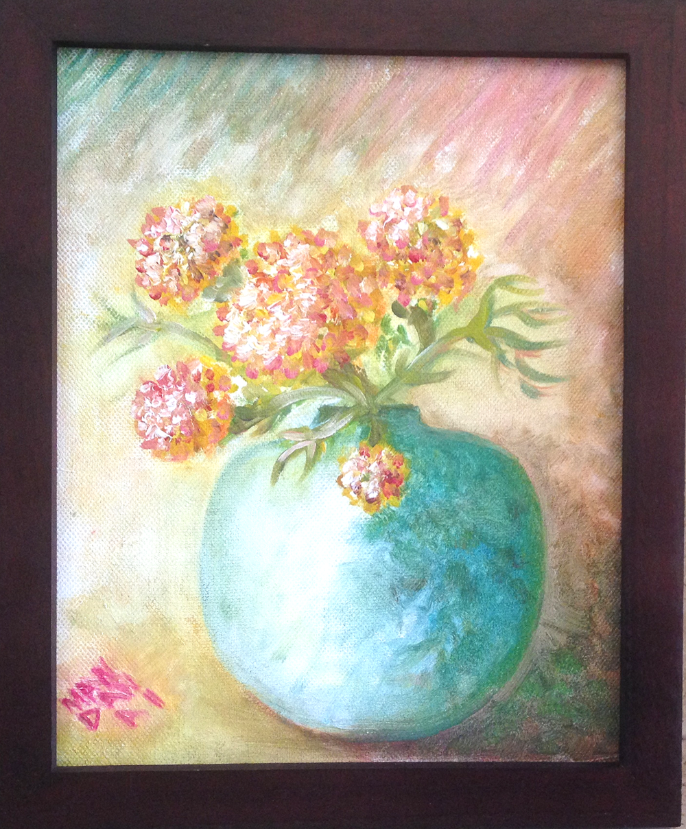 IMAGINARY VASE AND FLOWERS, OIL ON CANVAS, 2012