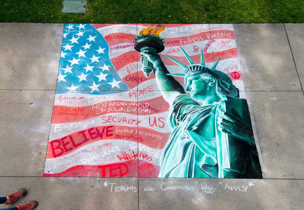 Chalk art by Shuji Nishimura
