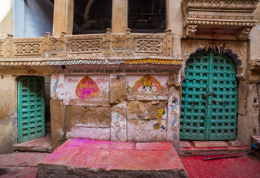 The aftermath of Holi celebrations in Jaisalmer