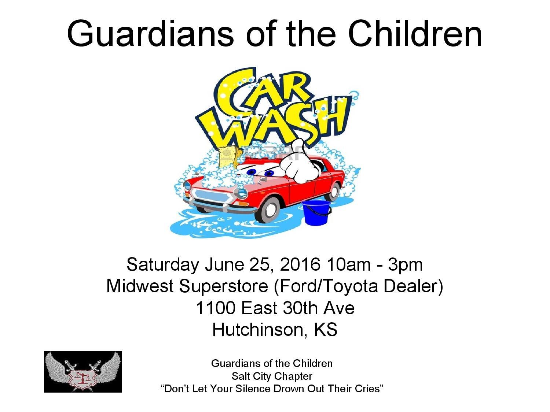 Car Dealerships In Hutchinson Ks >> Goc Car Motorcycle Wash Guardians Of The Children Salt