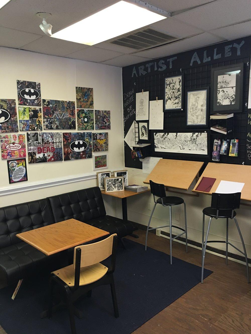 Artist Alley as it appeared in early June.