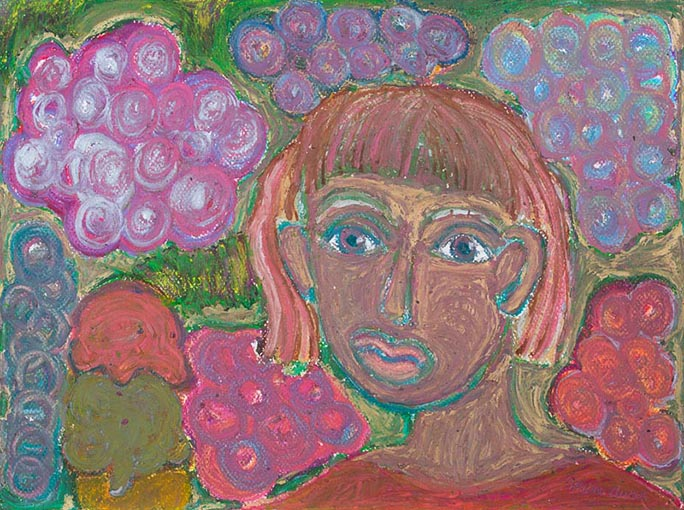 The Young Girl Enjoying Ice Cream , 2015 Soft pastel on paper 12 x 16 in.