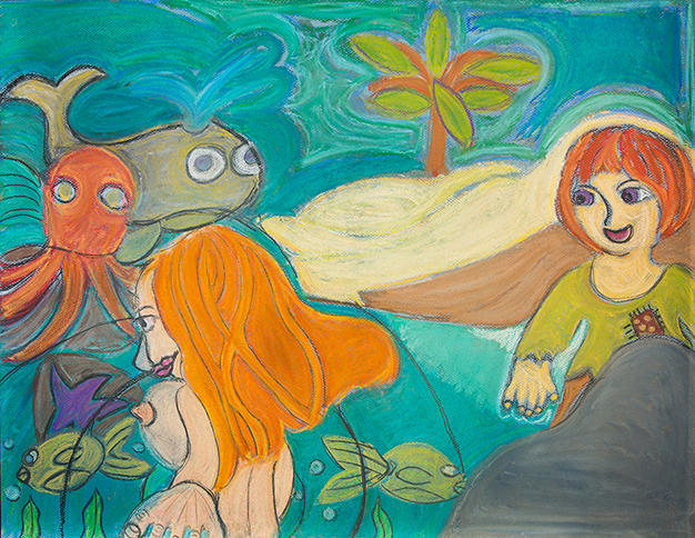"""Swimming with Fishies , 2013 Oil pastel on paper 19 ½x 25 ½       0   0   1   2   12   Mara Clawson   1   1   13   14.0                      Normal   0           false   false   false     EN-US   JA   X-NONE                                                                                                                                                                                                                                                                                                                                                                           /* Style Definitions */ table.MsoNormalTable {mso-style-name:""""Table Normal""""; mso-tstyle-rowband-size:0; mso-tstyle-colband-size:0; mso-style-noshow:yes; mso-style-priority:99; mso-style-parent:""""""""; mso-padding-alt:0in 5.4pt 0in 5.4pt; mso-para-margin-top:0in; mso-para-margin-right:0in; mso-para-margin-bottom:8.0pt; mso-para-margin-left:0in; line-height:107%; mso-pagination:widow-orphan; font-size:11.0pt; font-family:Calibri; mso-ascii-font-family:Calibri; mso-ascii-theme-font:minor-latin; mso-hansi-font-family:Calibri; mso-hansi-theme-font:minor-latin;}     in."""