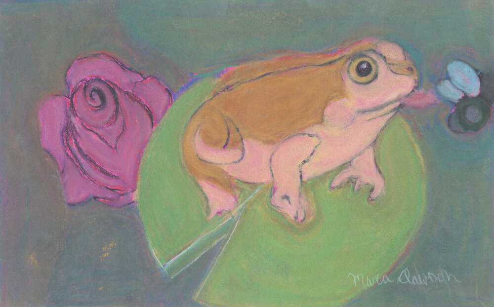Catching Some Flies , 2014 Soft pastel on paper 8 ½ x 13 ½ in.