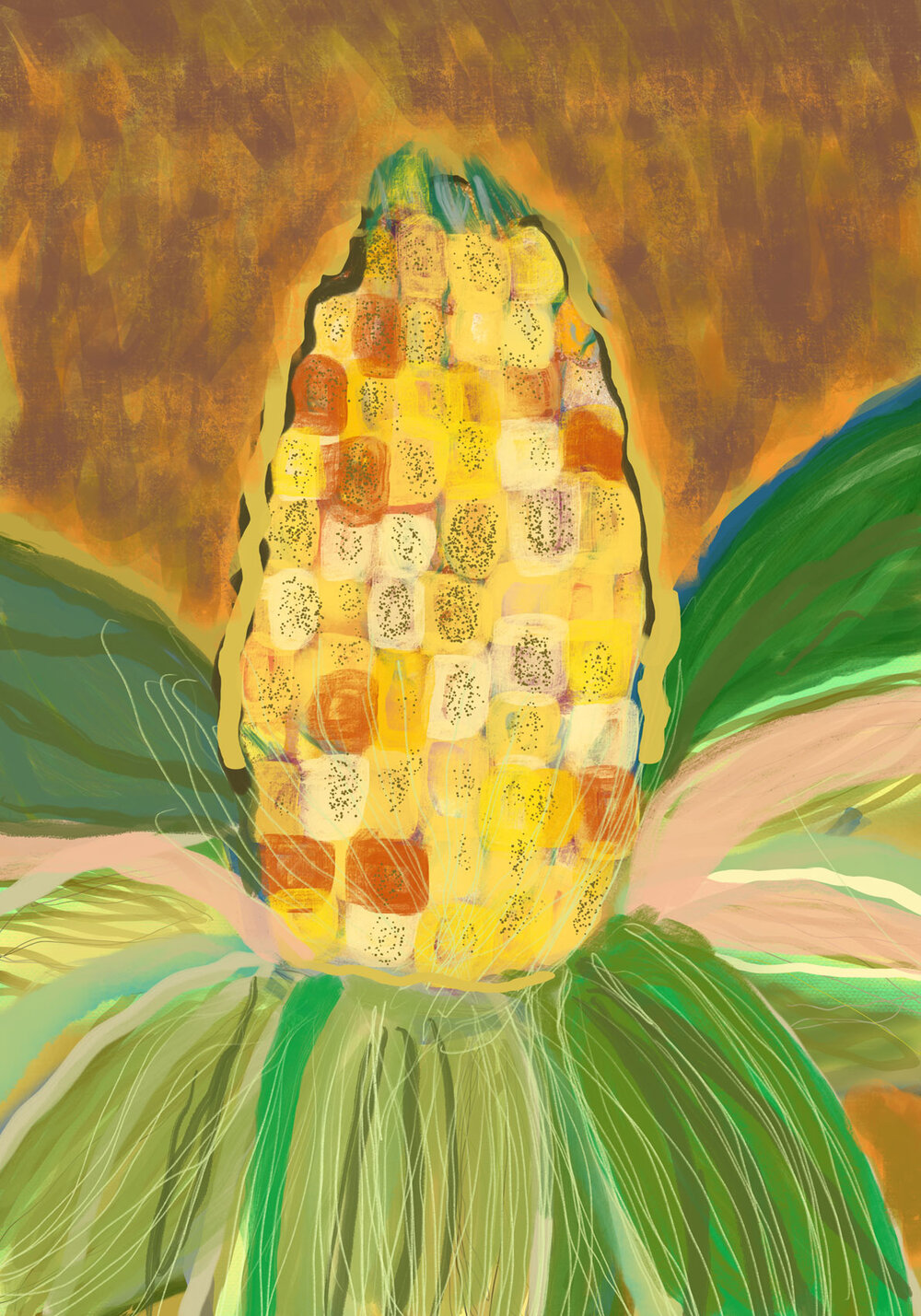 Cornfield , 2016 iPad drawing Dimensions variable