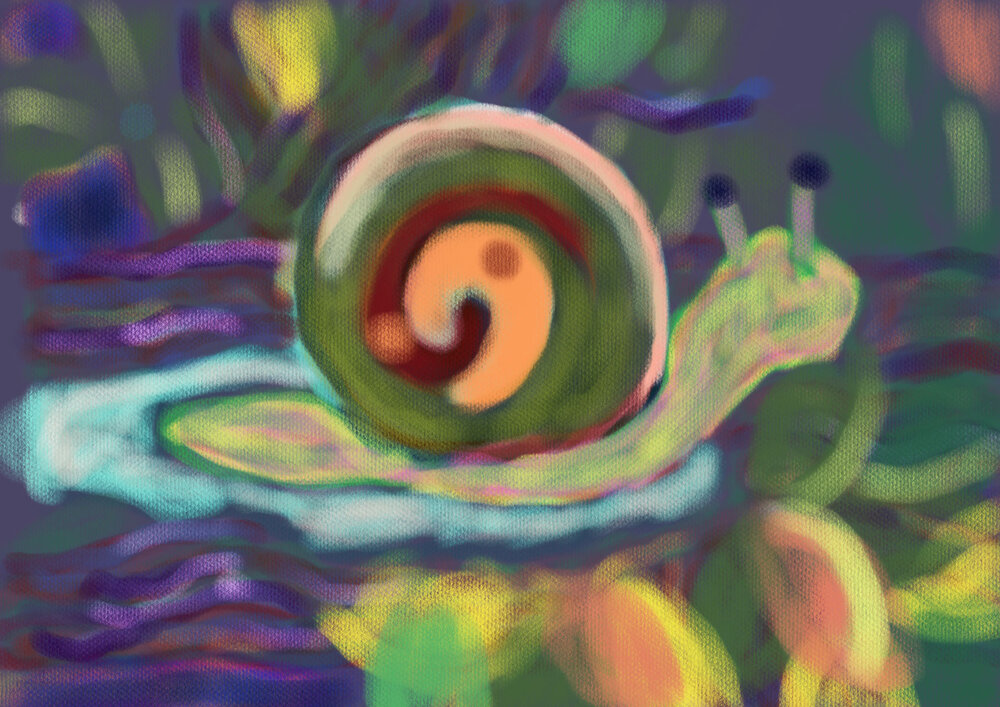 Climbing up to the Tree,  2016 iPad drawing Dimensions variable