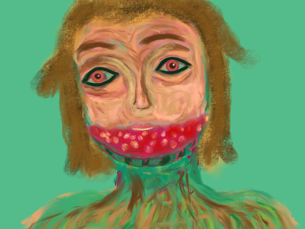 Watermelon Girl,  2016 iPad drawing Dimensions variable
