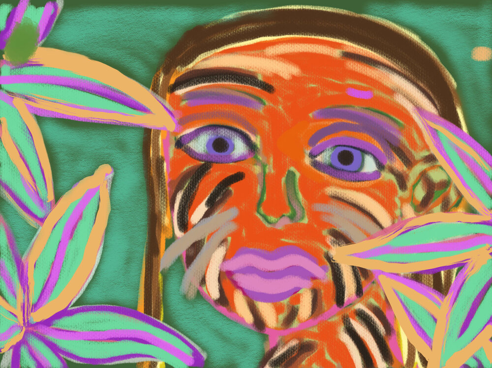 Surviving the Jungle , 2016 iPad drawing Dimensions variable