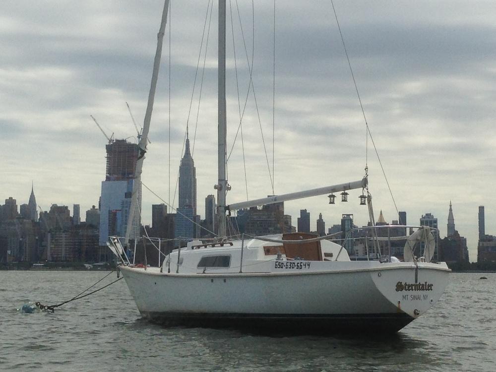Sam's Sailboat in the Hudson