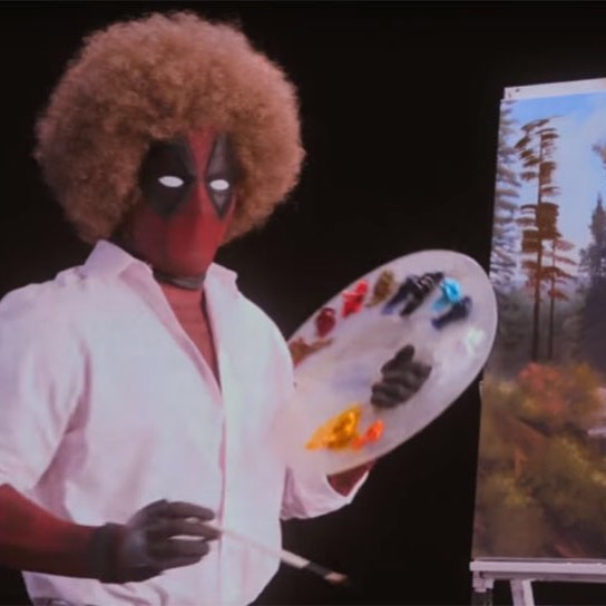 What else did we expect?  Whatever...Deadpool 2 teaser is here! Check it out over on our FB page. -k2 #Deadpool #Deadpool2 #Marvel #Cable #BobRoss