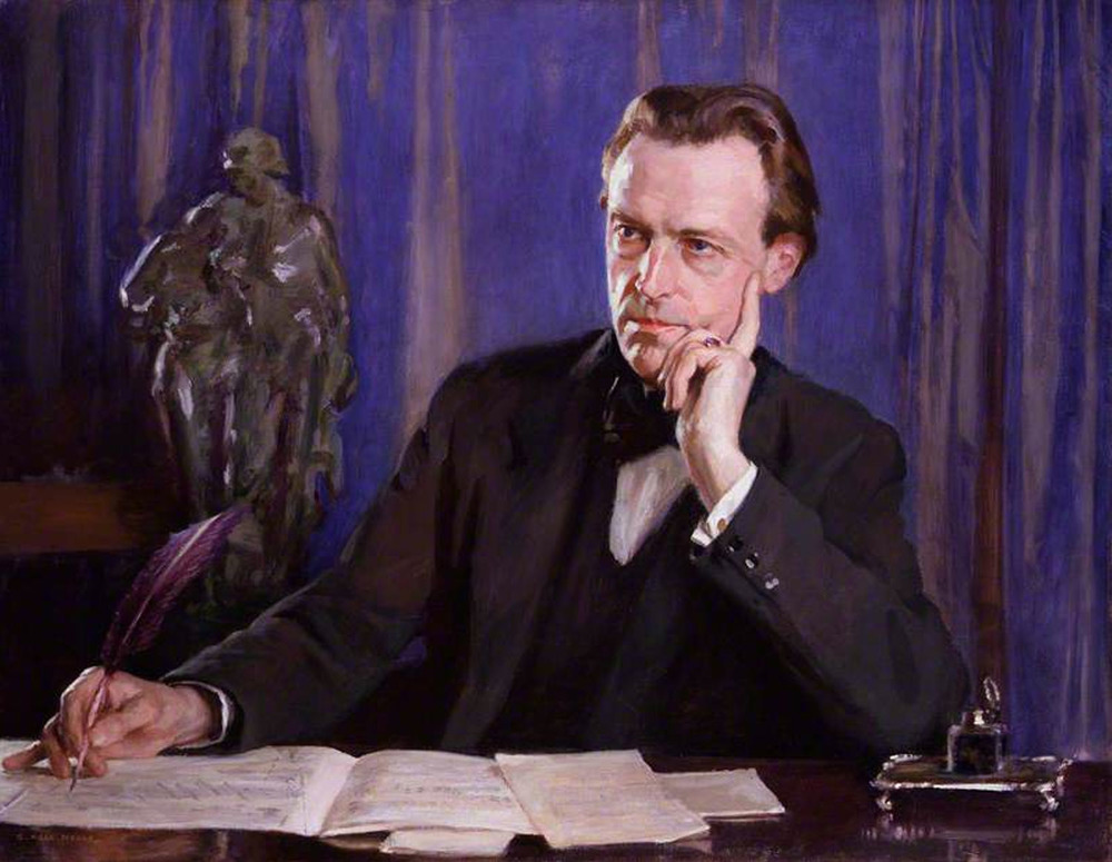 painting of Cyril Scott by George Hall Neale, photo credit:  National Portrait Gallery, London