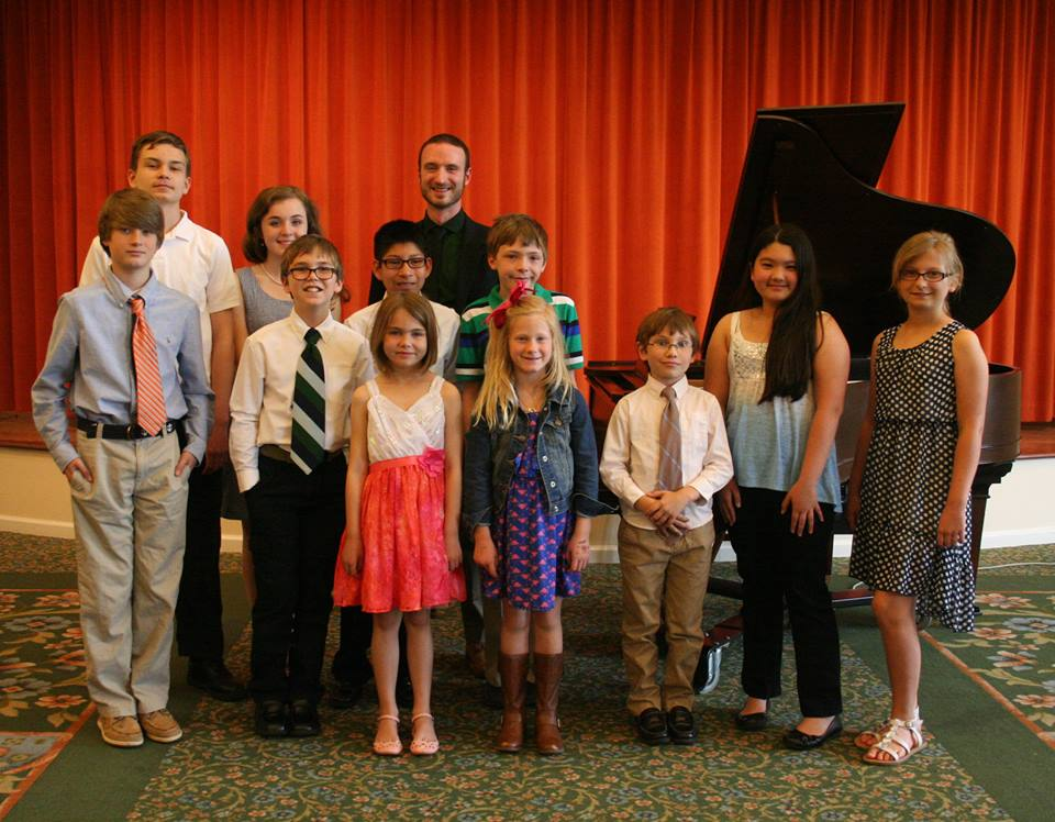 After a successful student recital in May, 2015. Performance at Kendal in Lexington, VA.