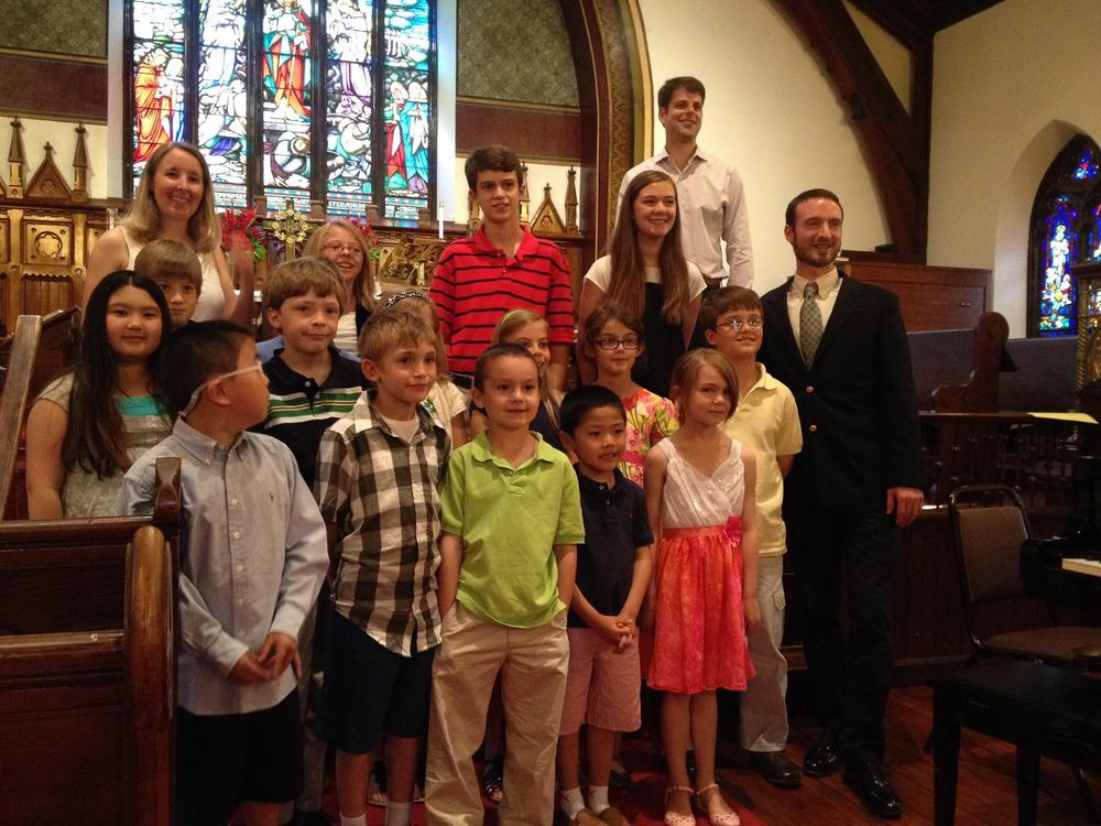Joint recital with students of Lacey Lynch, Ted Bickish, and my own. June 2014 at Grace Episcopal Church in Lexington, VA.