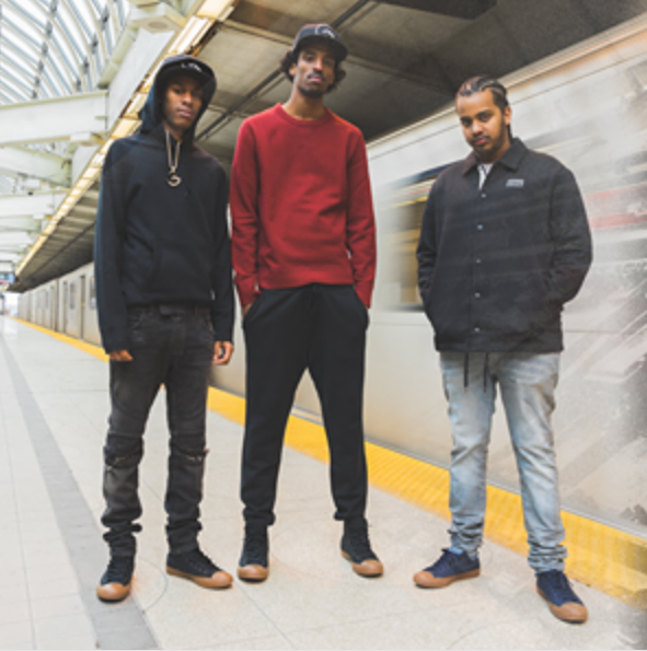 The 878 Dreamteam in new kicks - Converse giving Toronto's own some love in this stylish, local campaign.