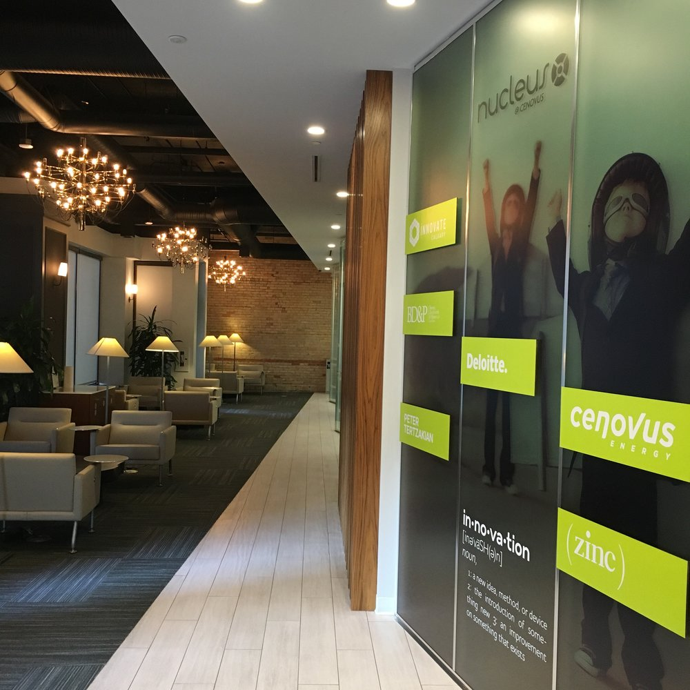 Foyer at Nucleus Calgary, sponsored by Cenovus Energy