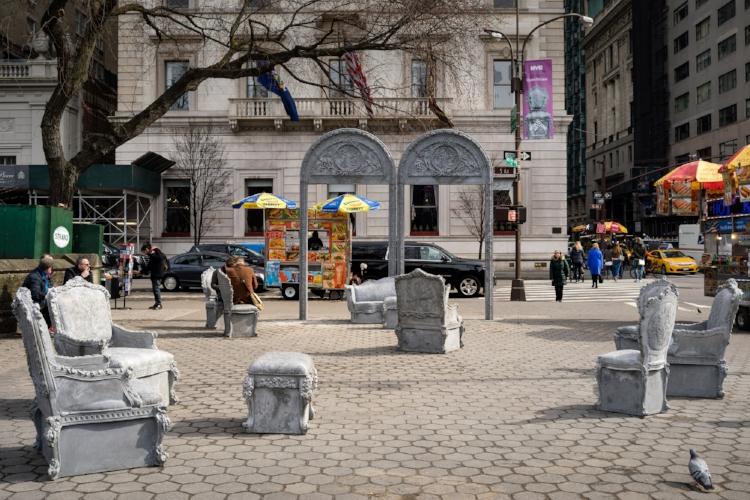 Doris C. Freedman Plaza                           Liz Glynn: Open House                        March 1 – September 24, 2017                              New York, USA