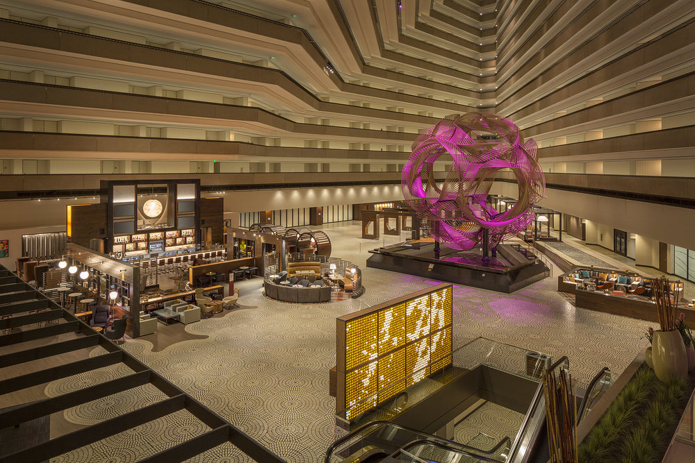 The lobby of the Hyatt Regency Embarcadero, the world's largest lobby!